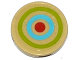 Part No: 14769pb012  Name: Tile, Round 2 x 2 with Bottom Stud Holder with Lime, Medium Blue and Red Target Pattern (Sticker) - Set 41051