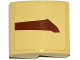 Part No: 15068pb036R  Name: Slope, Curved 2 x 2 No Studs with SW Wookiee Gunship Pattern 1 Model Right Side (Sticker) - Set 75084