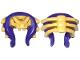 Part No: 19044pb01  Name: Minifigure, Headgear Helmet Ninjago Snake Skull and Spine with Dark Purple Snake Pattern
