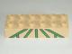Part No: 2300pb004  Name: Duplo, Brick 2 x 6 with Green Lattice Pattern