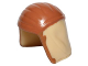 Part No: 27321pb01  Name: Minifig, Headgear Cap, Neck Protector with Medium Dark Flesh Pattern (SW Pao)