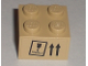 Part No: 3003pb025  Name: Brick 2 x 2 with 'FRAGILE' Goblet and Up Arrows Pattern (Sticker)