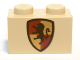 Part No: 3004px11  Name: Brick 1 x 2 with HP Gryffindor Shield Pattern