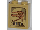 Part No: 3245cpb009  Name: Brick 1 x 2 x 2 with Inside Stud Holder with Eye of Horus Pattern (Sticker) - Set 7327