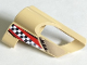 Part No: 32527pb10  Name: Technic, Panel Fairing # 5 Small Short, Large Hole, Side A with Checkered Flag Pattern (Sticker) - Set 8371
