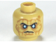 Part No: 3626cpb0632  Name: Minifigure, Head PotC Davy Jones Silver Eyes and Furrowed Brow Pattern - Hollow Stud