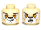 Part No: 3626cpb0881  Name: Minifig, Head Dual Sided Alien Chima Lion with Orange Eyes, Brown Nose, Crooked Smile / Open Mouth Pattern (Leonidas) - Stud Recessed