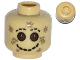 Part No: 3626cpb0997  Name: Minifigure, Head Alien Mask with Button Eyes, Stitched Smile and Eyebrows Pattern - Hollow Stud