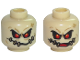 Part No: 3626cpb1728  Name: Minifigure, Head Dual Sided Alien with Red Eyes, Dark Tan Patches with Stitches Front and Back, Closed / Open Mouth Pattern (Scarecrow) - Hollow Stud