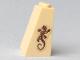 Part No: 3684cpb021  Name: Slope 75 2 x 2 x 3 - Solid Studs with Dark Tan Lizard Pattern (Sticker) - Set 41149