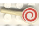 Part No: 3900pb02  Name: Minifigure, Utensil Signal Paddle with Red and White Spiral Pattern