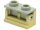 Part No: 3937c09  Name: Hinge Brick 1 x 2 Complete Assembly with Light Gray Top Plate