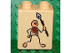 Part No: 4066pb189  Name: Duplo, Brick 1 x 2 x 2 with Cave Painting Human Pattern