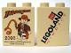 Part No: 4066pb294  Name: Duplo, Brick 1 x 2 x 2 with Indiana Jones Legoland Windsor Pattern