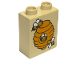 Part No: 4066pb467  Name: Duplo, Brick 1 x 2 x 2 with Beehive Pattern