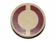 Part No: 4150pb167  Name: Tile, Round 2 x 2 with Dark Red SW Semicircles on Tan Background Pattern (Sticker)