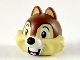 Part No: 41581pb01  Name: Minifigure, Head Modified Chipmunk with Centered Teeth, Reddish Brown Fur and Black Nose Pattern (Chip)