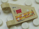 Part No: 44676pb005  Name: Flag 2 x 2 Trapezoid with Yellow and Red Stripes, 'S' and Bullet Holes Pattern on Both Sides (Stickers) - Set 5980