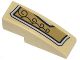 Part No: 50950pb070L  Name: Slope, Curved 3 x 1 No Studs with Gold and Silver Armor Plate with 4 Black Swirls Pattern Model Left Side (Sticker) - Set 70123