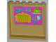Part No: 59349pb066  Name: Panel 1 x 6 x 5 with Hay, Pitchfork, First Aid Kit, Stethoscope and Brush Pattern on Inside (Sticker) - Set 3188