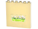 Part No: 59349pb074  Name: Panel 1 x 6 x 5 with Lime Flower Box Pattern (Sticker) - Set 3185