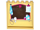 Part No: 59349pb123  Name: Panel 1 x 6 x 5 with Mirror with Paw Print, Towel, Checklist, Hair Dryer and Toiletries Pattern on Inside Pattern (Sticker) - Set 41124