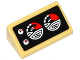 Part No: 85984pb097  Name: Slope 30 1 x 2 x 2/3 with 4 Red and White Gauges on Black Background Pattern (Sticker) - Set 76041
