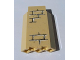 Part No: 87421pb002  Name: Panel 3 x 3 x 6 Corner Wall without Bottom Indentations with Bricks Pattern 2 (Sticker)
