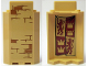 Part No: 87421pb046  Name: Panel 3 x 3 x 6 Corner Wall without Bottom Indentations with Bricks Type 2 Outside and Gryffindor Banner Inside Pattern (Stickers) - Set 75953