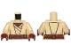 Part No: 973pb1257c01  Name: Torso SW Jedi Robe, Reddish Brown Undershirt and Belt Pattern (SW Agen Kolar) / Tan Arms / Reddish Brown Hands
