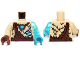 Part No: 973pb1733c01  Name: Torso Fur with Ragged Brown Top and Blue Chi Pattern / Trans-Light Blue Arm Left / Tan Arm Right / Dark Azure Hand Left / Reddish Brown Hand Right