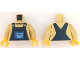 Part No: 973pb1912c01  Name: Torso Overalls Blue over Crew Neck Shirt with Drainpipe Pattern / Tan Arms / Yellow Hands