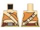 Part No: 973pb2145  Name: Torso Female Dark Orange Crop Top and Tan Diagonal Belt Pattern (SW Resistance Soldier)