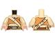 Part No: 973pb2145c01  Name: Torso Female Dark Orange Crop Top and Tan Diagonal Belt Pattern (SW Resistance Soldier) / Tan Arms / Light Flesh Hands