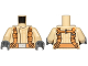 Part No: 973pb2224c01  Name: Torso SW Mandarin Collar, Dark Orange Utility Belts Pattern (SW Resistance Trooper) / Tan Arms / Dark Bluish Gray Hands