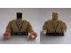 Part No: 973pb2927c01  Name: Torso SW Jedi Robe, Belt and White Undershirt Pattern (Obi-Wan) / Tan Arms / Light Flesh Hands