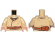 Part No: 973pb3395c01  Name: Torso SW Layered Shirt, Brown Belt and Buckle, Pouches on Reverse Pattern / Tan Arms / Light Flesh Hands