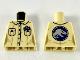 Part No: 973pb3602  Name: Torso Female Button Down Shirt, Name Tag, 2 Pockets and Jurassic World Logo on Back Pattern