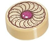 Part No: 98138pb037  Name: Tile, Round 1 x 1 with Cookie Magenta Center Pattern
