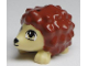 Part No: 98389pb01  Name: Hedgehog, Friends with Black Eyes and Nose and Reddish Brown Spines Pattern (Oscar)