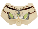Part No: 98603pb022  Name: Large Figure Chest Armor Small with SW General Grievous Dark Gray and Lime Pattern