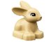 Part No: dupbunnypb02  Name: Duplo Bunny / Rabbit Head Turned Left with Black Eyes and Reddish Brown Nose Pattern