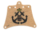Part No: sailbb30  Name: Cloth Sail 12 x 10 with Black Crossed Anchors Pattern
