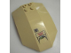 Part No: x224pb008  Name: Windscreen 8 x 6 x 2 Curved with 'TRACKING SENSOR' Pattern (Sticker) - Sets 7298 / 7477