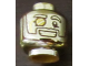 Part No: 3626cpb2152  Name: Minifigure, Head Glasses with Monocle, Wide Grin with Teeth Pattern (Mr. Gold) - Hollow Stud