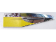 Part No: 42060pb16  Name: Wedge 12 x 3 Right with Plain Yellow and Missile Groove Pattern (Sticker) -Set 10026