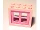 Part No: 4132c05  Name: Window 2 x 4 x 3 Frame with Medium Dark Pink Pane (4132 / 4133)