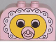 Part No: 4744px16  Name: Brick, Modified 2 x 4 x 2 Double Curved Top with Baby Face Pacifier Pattern