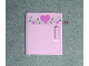 Part No: 6196pb01  Name: Container, Cupboard 4 x 4 x 4 Door with 3 Dark Pink Hearts and Vine Pattern (Sticker) - Set 5860