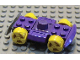 Part No: 30558c09  Name: Vehicle, Base 4 x 6 Racer Base with Yellow Wheels